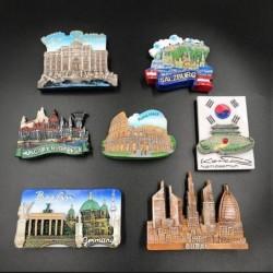 Tourist fridge magnets - Germany / Dubai / Korea / Italy