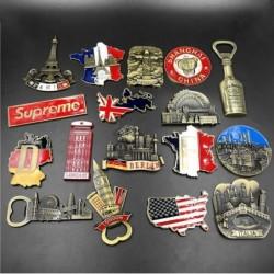 3D fridge magnets - bottle opener - France / Germany / Brazil / Italy