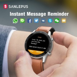 SANLEPUS - Smart Watch - heart rate - phone calls - workout - waterproof - Bluetooth - Android / IOS