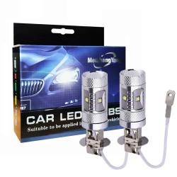 H3 30W CREE LED car lights 1400 Lumen - bulbs - 2 pieces