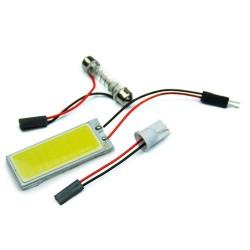 Xenon HID white 36 COB LED light bulb car interior panel lamp 12V 5500K -6000K 2 pcs