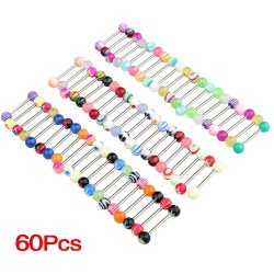 Tongue piercing - barbell 60 pieces