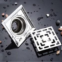 Square stainless steel bathroom floor drain 10 cm * 10 cm