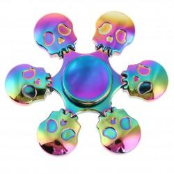 Skulls Rainbow Hand Fidget Spinner Metal
