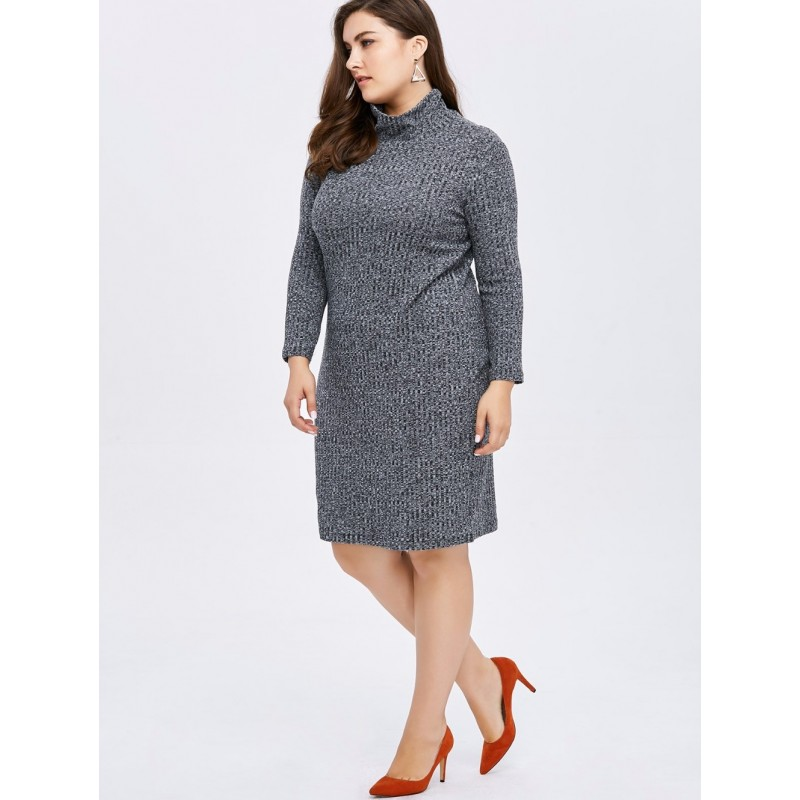 Plus Size High Neck Casual...