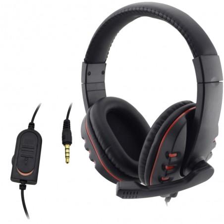 PlayStation 4 PS4 Wired 3.5mm Gaming Headset Microphone PC
