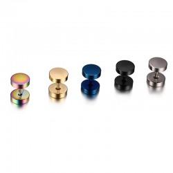 Round Dumbbell Stainless Steel Earrings