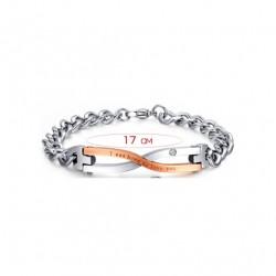 Stainless Steel Couples Bracelet