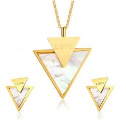 Love & Dreieck Stilvolle Schmuck Set