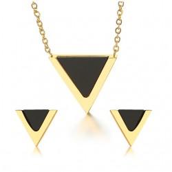 Dreieck Ohrringe & Halskette Schmuck Set