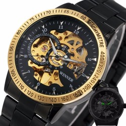 Relogio Skeleton Military Automatic Mechanical Watch