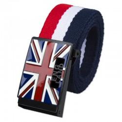Mode England Stil Leinwand Gürtel Unisex