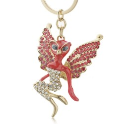 Crystal Catwoman with wings Keychain Keyring