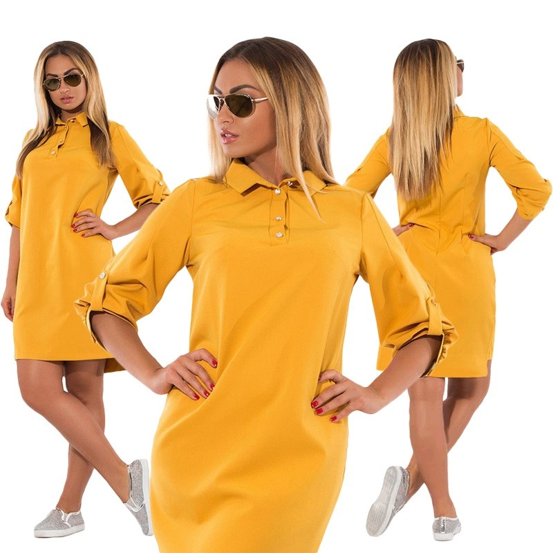 Plus Size Casual Dress Loose Straight Blouse | Store Vegas