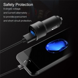 iPhone7 / 7 Plus Samsung S8 Xiaomi 6 H2 3.4A 2 USB Ports Digital LED Display Car Charger Fast Charging
