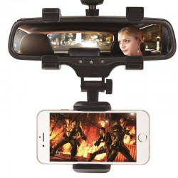 iPhone Samsung GPS Smartphone Car Rear View Mirror 360 Degree Phone Holder