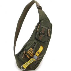 Waterproof nylon crossbody shoulder bag - backpack