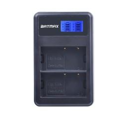 Dual LCD USB Battery Charger for DMW-BLF19 BLF19E BLF19GK BLF19PP DMC-GH3 GH3A GH3AGK