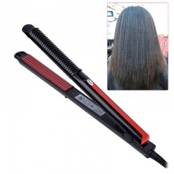 Electric hair straightener corrugated iron with temperature control