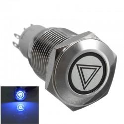 Botones para coches iluminados autobloqueantes impermeables 16mm LED