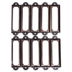 Antique brass furniture metal handle - frame label holder 10 pieces