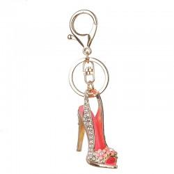 Crystal high heel shoe - keychain