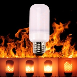 E27 E26 E14 LED lamp -flame effect bulb - flickering flame light 5W SMD2835