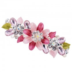 Crystal flowers - hairpin