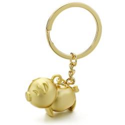Piggy - metal keychain - keyring