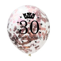 Geburtstag und Jubiläum Latexballons 12 Zoll 5 Stück