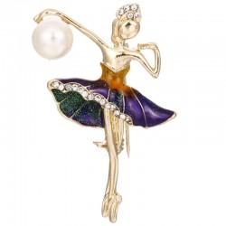 Ballerina - crystal brooch