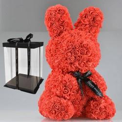 Infinity rose flower easter bunny 45 cm