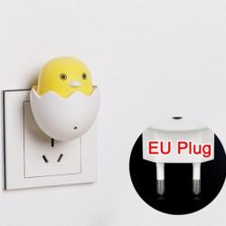 LED AC 220V - wall socket plug - night light - with control sensor - yellow duck
