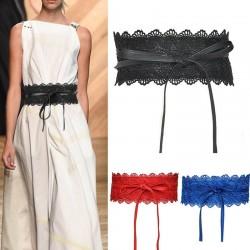 Leather & lace - elegant wide belt