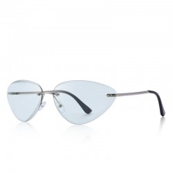 Cat eye - rimless sunglasses - UV400