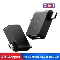 Ugreen 2 in 1 OTG cable adapter - micro USB - type C to USB