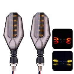12V LED motorcycle turn signal lights - super bright indicators 2 pcs