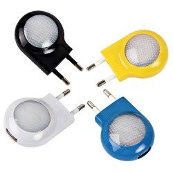 Led - mini wall light with USB charger - EU plug