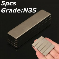 N35 strong neodymium magnet 40 * 10 * 3mm - block 5pcs