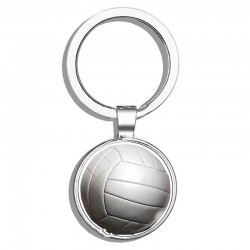 Double sided basket ball - keychain
