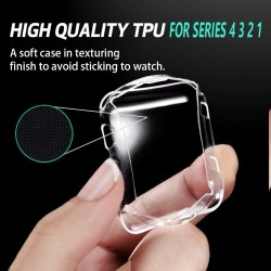Ultra thin TPU HD protection case for Apple Watch 1-2-3-4-5 - 38mm - 40mm - 42mm - 44mm
