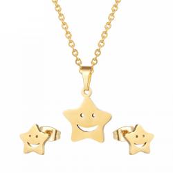 Gold & Silber Ohrringe & Halskette - Schmuckset