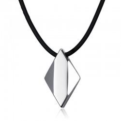 Tungsten carbide rhombus - necklace