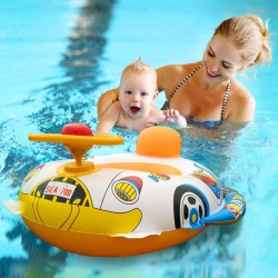 Inflatable swimming pool car - baby seat