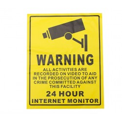 24h security camera cctv recording warning sticker