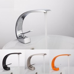 Brass basin faucet - hot & cold water