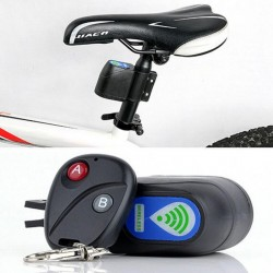 Professional anti-theft bike lock - wireless control - with remote