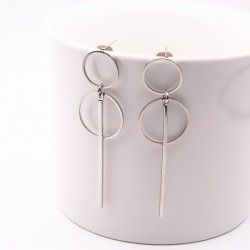 Fashionable punk style long earrings