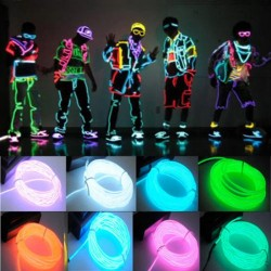Flexible neon LED light wire 3m - battery powered