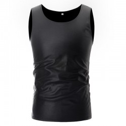 Shiny metallic t-shirt - sleeveless vest